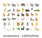 cute animal set with farm and... | Shutterstock .eps vector #1209169456