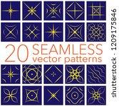 geometric patterns set.seamless ... | Shutterstock .eps vector #1209175846