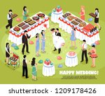 isometric banquet wedding... | Shutterstock .eps vector #1209178426