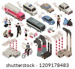 air pollution in city isometric ... | Shutterstock .eps vector #1209178483