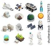 mars colonization isometric set ... | Shutterstock .eps vector #1209178573