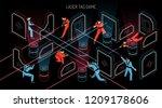laser tag indoor outdoor team...   Shutterstock .eps vector #1209178606
