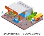 gas stations refills isometric... | Shutterstock .eps vector #1209178999