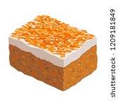 carrot cake isolated on white... | Shutterstock .eps vector #1209181849
