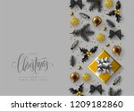 christmas decorative border... | Shutterstock .eps vector #1209182860