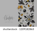 christmas decorative border... | Shutterstock .eps vector #1209182863