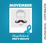 october  2018  movember  ... | Shutterstock .eps vector #1209186256
