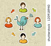 social media networks rss feed... | Shutterstock . vector #120918940
