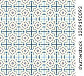 oriental pattern. repeated... | Shutterstock .eps vector #1209190093