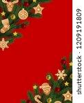 christmas and new year angular... | Shutterstock .eps vector #1209191809