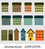 the buildings and houses | Shutterstock . vector #120919294
