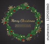 christmas background with fir... | Shutterstock .eps vector #1209203860
