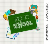 back to school design with... | Shutterstock .eps vector #1209205180
