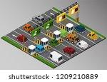 vector isometric illustration... | Shutterstock .eps vector #1209210889
