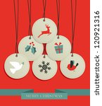 merry christmas sale set tags... | Shutterstock . vector #120921316
