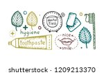collection of colorful hand...   Shutterstock .eps vector #1209213370