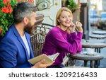 girl interested what he read....   Shutterstock . vector #1209216433