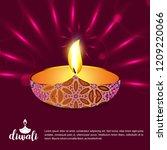 diwali design dark background... | Shutterstock .eps vector #1209220066