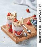 ingredients for healthy... | Shutterstock . vector #1209225469