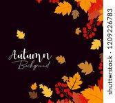 autumn season design with dark... | Shutterstock .eps vector #1209226783