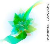vector illustration green... | Shutterstock .eps vector #1209229243