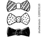 doodle style bow tie men's... | Shutterstock .eps vector #120923110