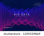 deep learning background.... | Shutterstock .eps vector #1209239869