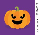 halloween pumpkin. vector... | Shutterstock .eps vector #1209240529