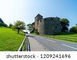 beautiful architecture at vaduz ... | Shutterstock . vector #1209241696
