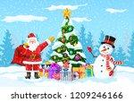 christmas background. christmas ... | Shutterstock .eps vector #1209246166