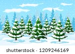 winter landscape with white... | Shutterstock .eps vector #1209246169