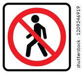 no entry   prohibition sign | Shutterstock .eps vector #1209246919