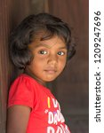 Stock photo portrait of a small girl child of indian origin 1209247696
