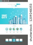 one page website template with...