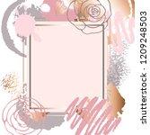golden pink art frames. modern... | Shutterstock .eps vector #1209248503