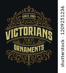 victorian badge stylish... | Shutterstock .eps vector #1209251236