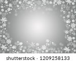 grey winter background with... | Shutterstock . vector #1209258133