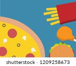 junk food design background.... | Shutterstock .eps vector #1209258673