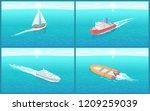 water transport traveling... | Shutterstock .eps vector #1209259039