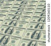 hundred dollar banknote...   Shutterstock .eps vector #1209260110