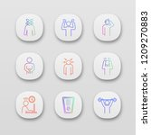 emotional stress app icons set. ... | Shutterstock .eps vector #1209270883