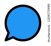 bubble chat notification   Shutterstock .eps vector #1209275989