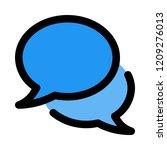 talk chat bubbles   Shutterstock .eps vector #1209276013