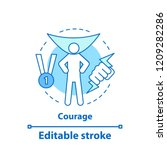 courage concept icon.... | Shutterstock .eps vector #1209282286