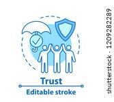trust concept icon. insurance... | Shutterstock .eps vector #1209282289
