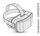 virtual reality headset | Shutterstock . vector #1209282376