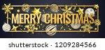 christmas horizontal banner...   Shutterstock .eps vector #1209284566