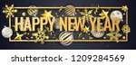 new year horizontal banner with ... | Shutterstock .eps vector #1209284569