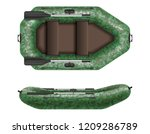 inflatable rubber boat for... | Shutterstock .eps vector #1209286789