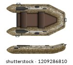 inflatable rubber boat for... | Shutterstock .eps vector #1209286810